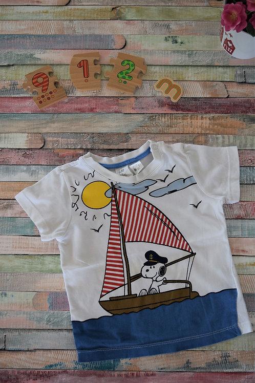 Sailing Dog Tshirt 9-12 Months