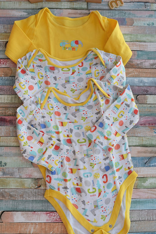 3 Long Sleeve Bodysuits 18-24 Months Old