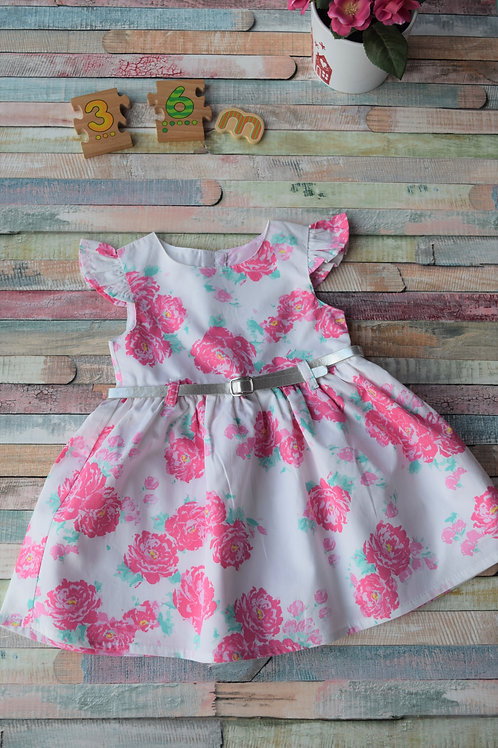 Roses Baby Dress 3-6 Months Old