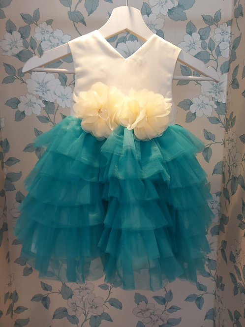 Irene Blue Frill Dress