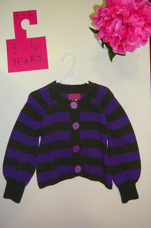 Grey With Purple Cardigan