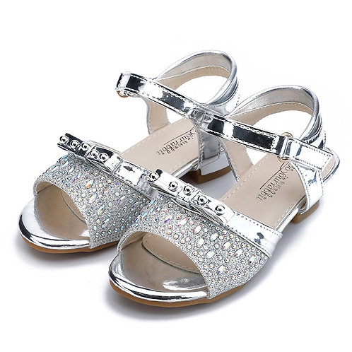 Silver Princess Sandals with Heel