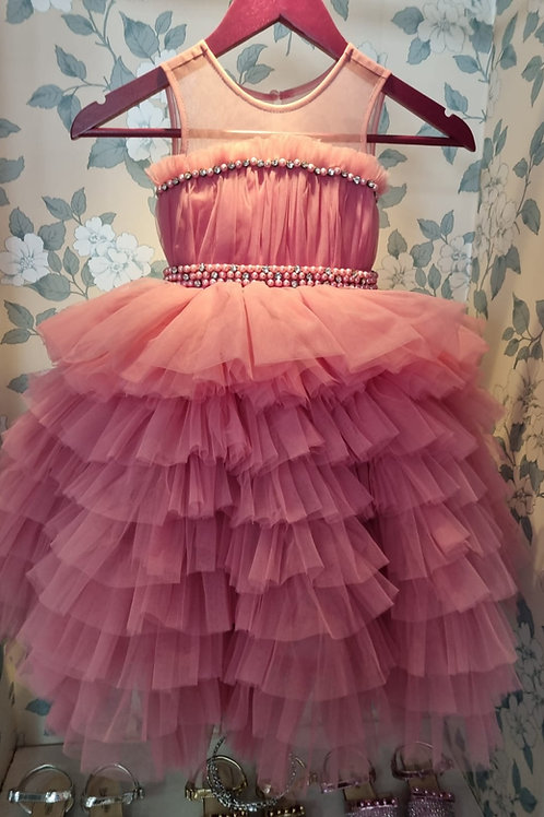 Queen Dress on Pink Rose Color