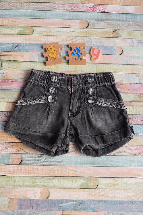 Black Cute Shorts 3-4 Years Old