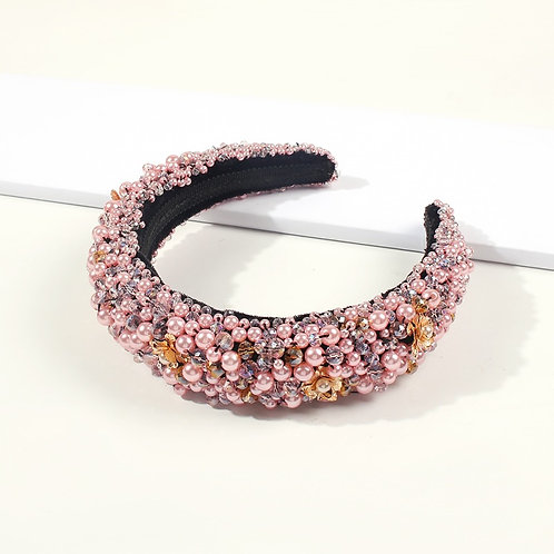 Pearls Duchess Headband Pink