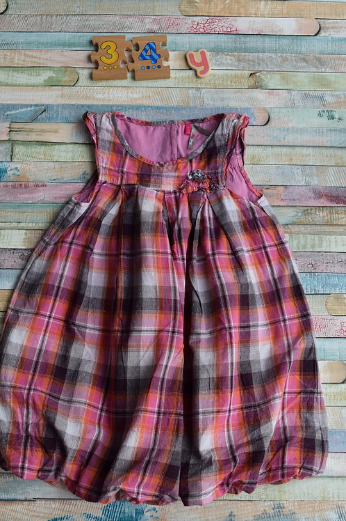 Pink and Brown Dress 3-4 Years Old