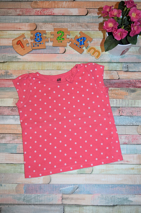 H&M White Dots T-shirt 18-24 Months