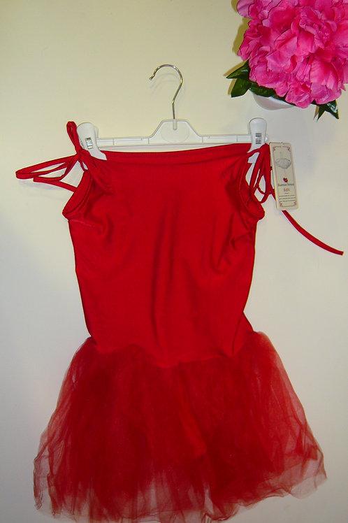Red Ballet Leotard with Tutu Dress