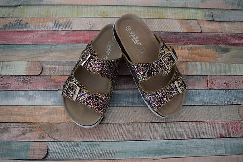 Bubble Bobble Summer Sparkly Sandals Colored