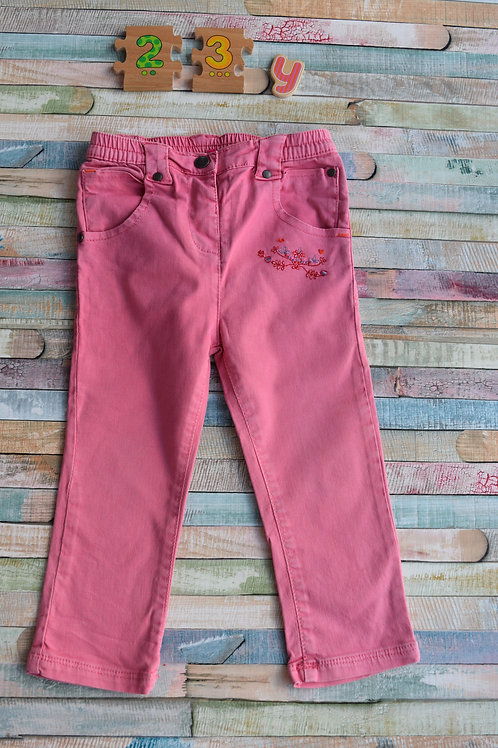 Pink Flower Trousers 2-3 Years Old
