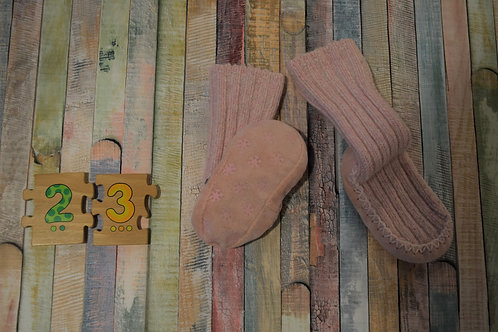 Home Warmer Slippers Pink Size 23