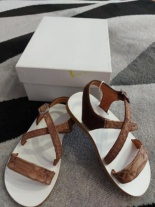 Brown Boys Sandals Size 22