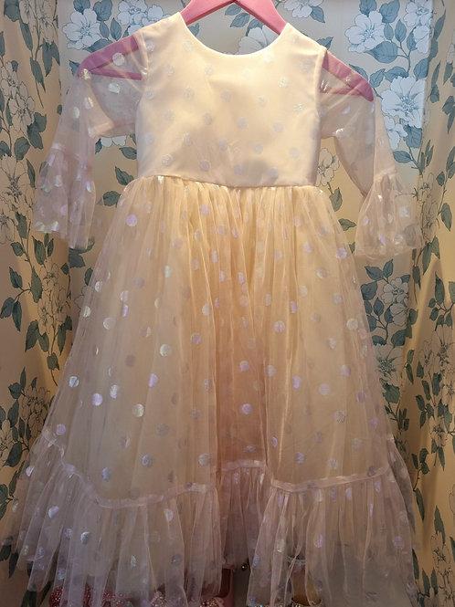 Silver Dots Lucille Dress