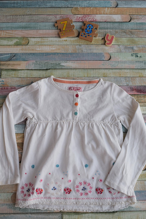 Long Sleeve Top Jeans 7-8 Years Old