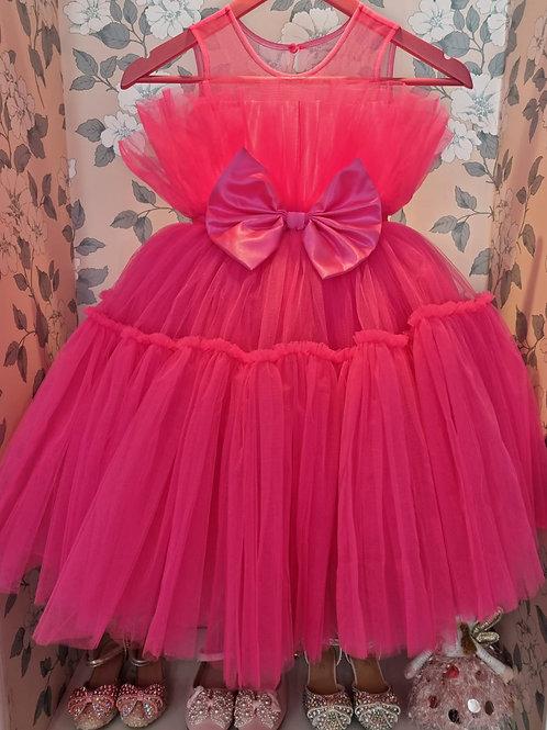 Fuchsia Rose Layla Dress