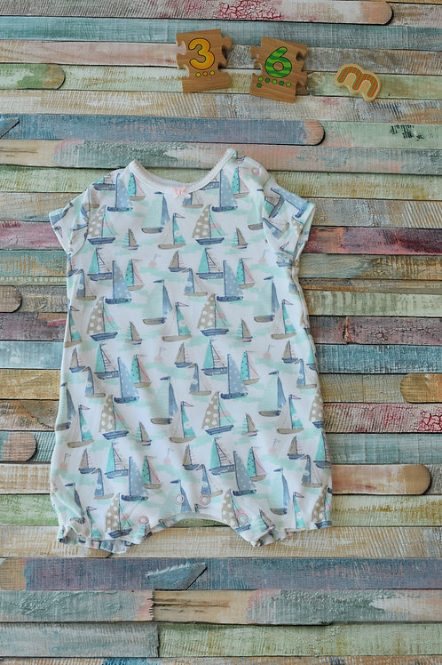 Ship BodySuit Short Sleeve 3-6 Months Old