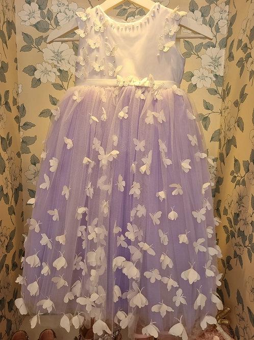 Purple Butterfly Melania Princess Dress