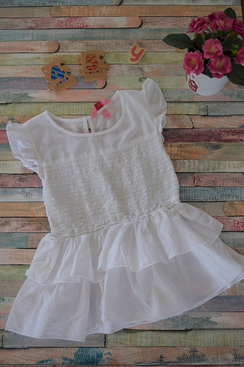 White Easy to Wear Top 4-5 Years Old