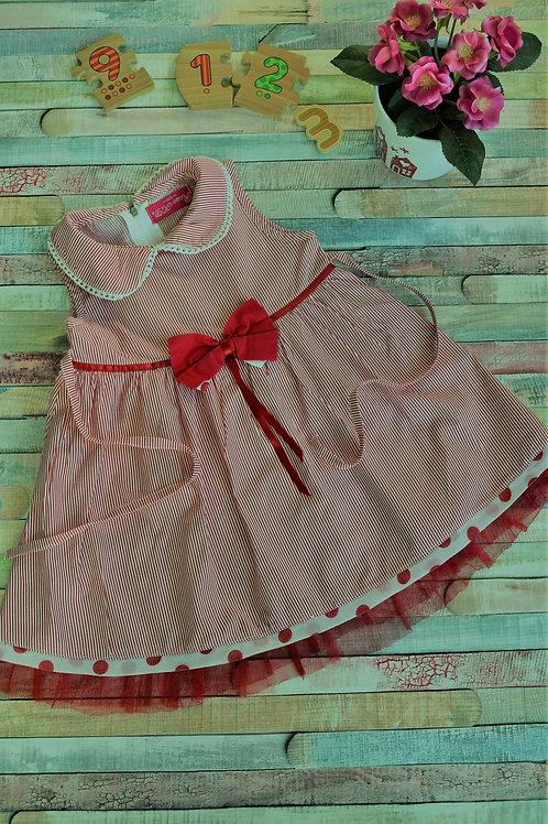 Red Ribbon Summer Dress