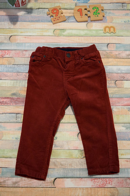 Red Trousers 9-12 Months