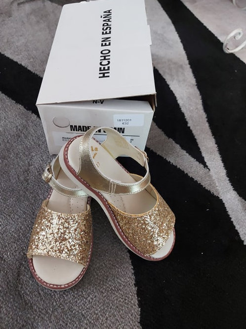 Gold Sparkly Sandals For Girls