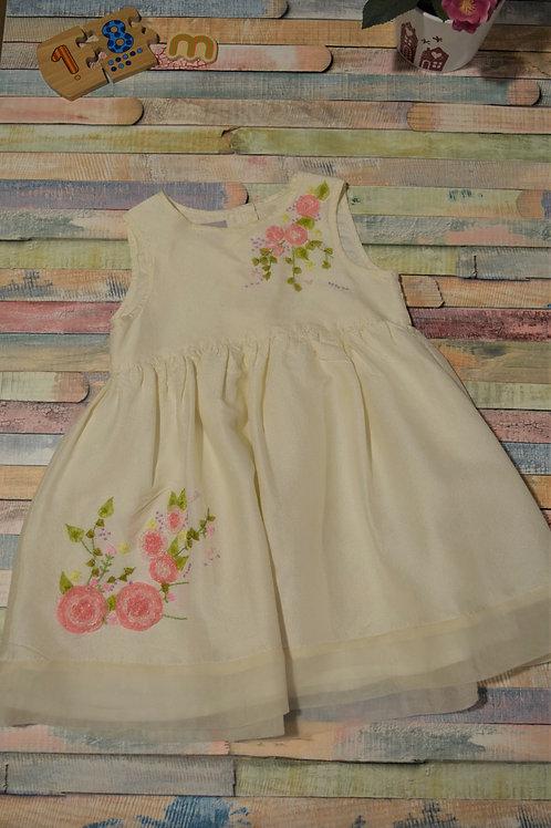 Monsoon Silk Dress 12- 18 Months Old