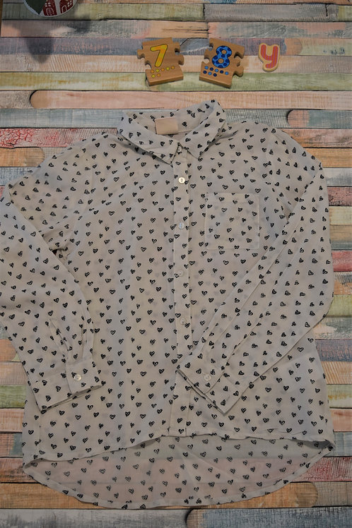 Hearts Silk Shirt 7-8 Years Old