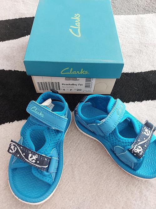 Clarks Blue Beach Sandals Size 20