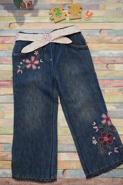 Flower Jeans 2-3 Years Old