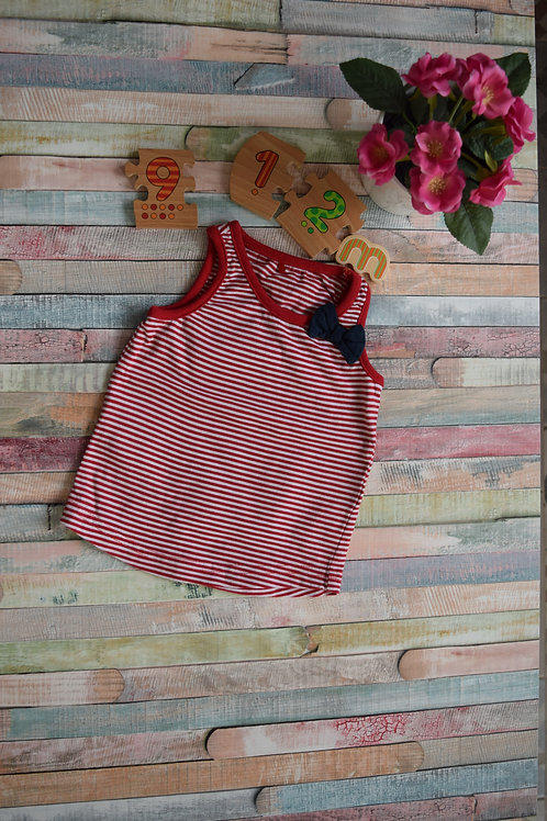 Red and White Summer Vest