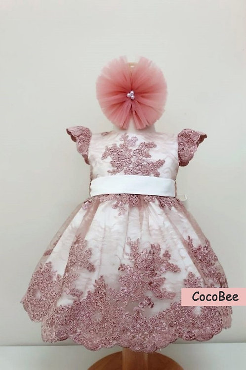 Erin Lace Pink Dress