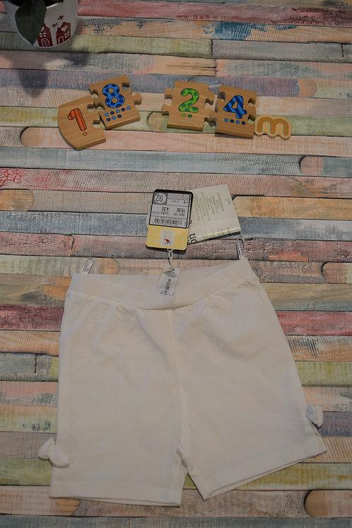 White Shorts Bio Cotton 18-24 Months