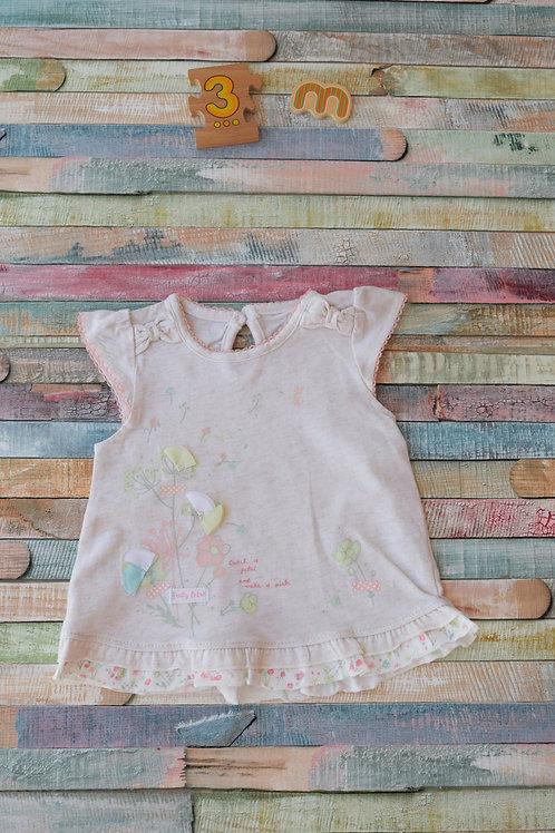 Flower Tshirt 0-3 Months Old