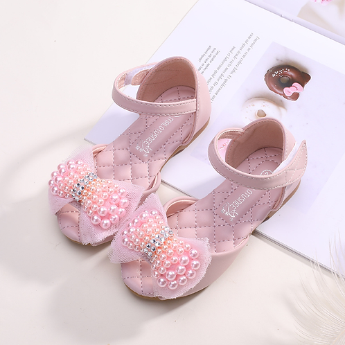 Pink Pearls Princess Sandals
