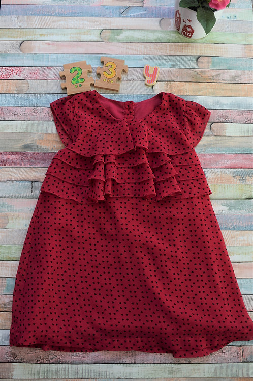 Black Hearts Dress 2-3 years