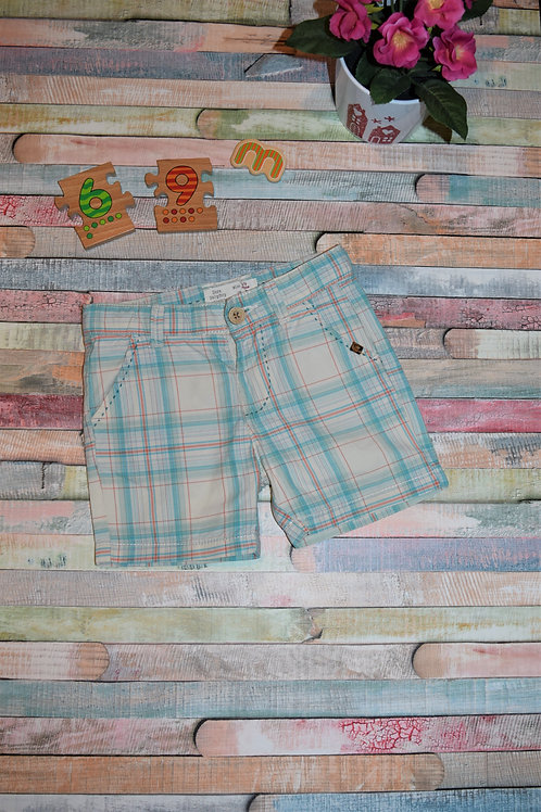 Blue Square Shorts by Zara
