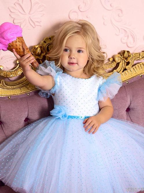 Blue Polka Dots Dress Gabriela