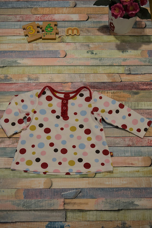 Dots Long Sleeve Top 3-6 Month Old
