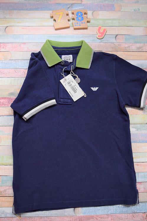 Armani Junior Polo Blue Tshirt 7-8 Years Old
