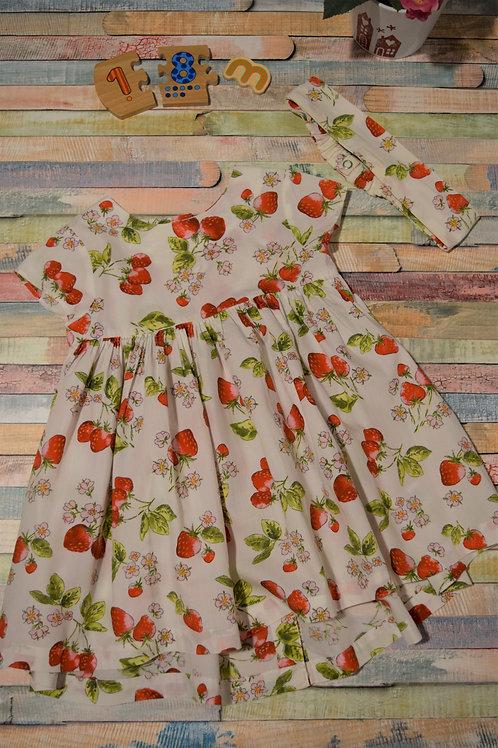 Strawberry Dress 12-24 Months