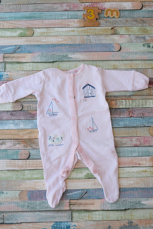 1 Pink Long Sleeve Bodysuit 1 Month Old