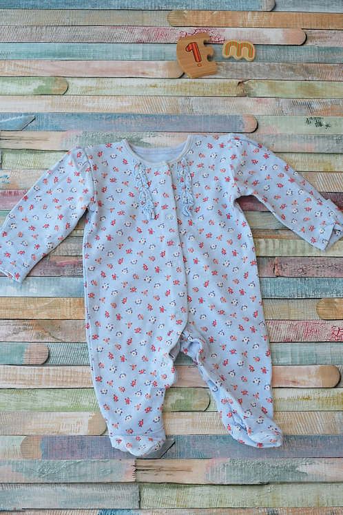 1 Blue Long Sleeve Bodysuit 1 Month Old