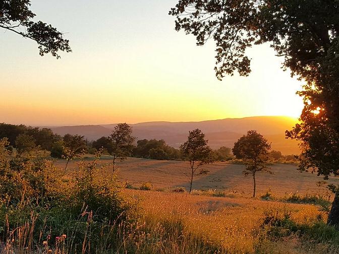 Provence sunset photo taken by Andrea Garfield-Barkworth - The English Translator
