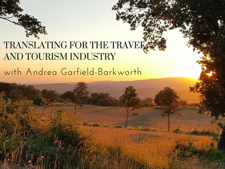 Webinar on Translating for the Travel and Tourism Industry