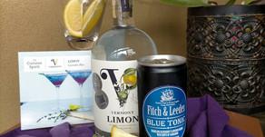 Non Alcoholic Vermont Lemon Botanical Spirit.