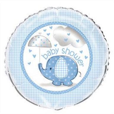 "Balloon Foil 18"" Elephant Blue"