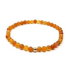 Bracelet agate feu - Les Ateliers de Brahma