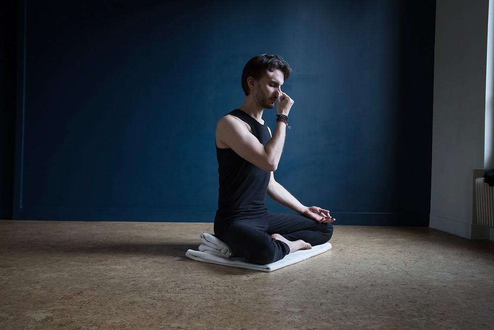 Nadi Shuddhi, Nadi Shoddhana, Anuloma Viloma Pranayama, Respiration, Alex Blake Yoga