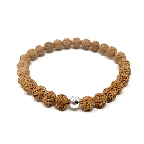 """Bracelet """"Rudraksha"""" argent"""