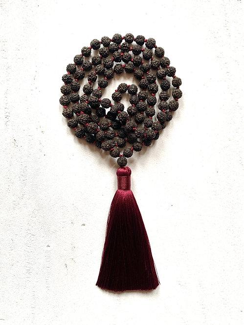 Mala Rudraksha Noir